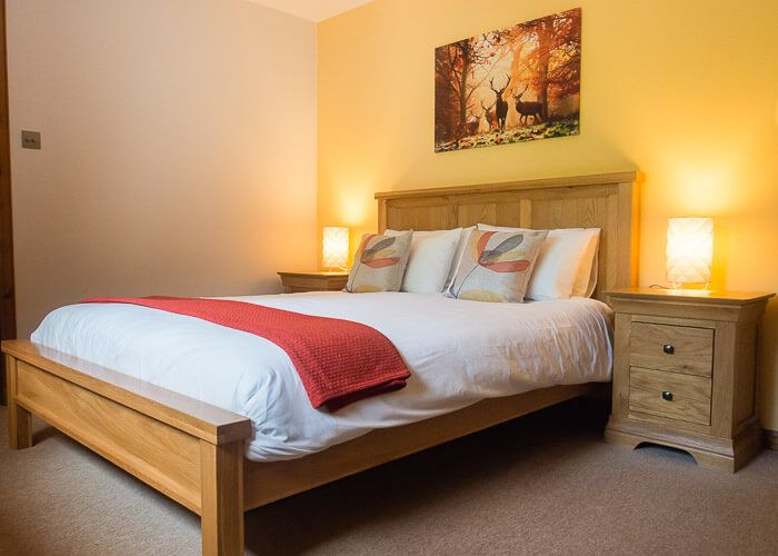 Double guest bedroom with garden and wildlife views